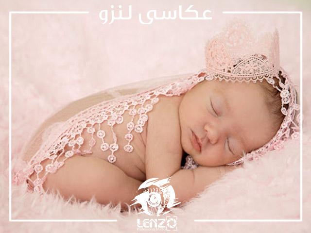 ثبت عکس نوزاد در خواب