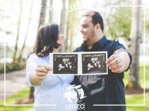 عکاسی بارداری در آتلیه لنزو