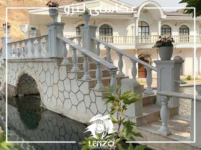 باغ عمارت لاکچری عکاسی در تهران