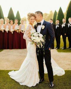 عکس عروس و داماد با ساقدوش ها