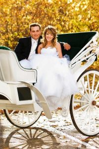 کالسکه سواری در عکاسی عروس
