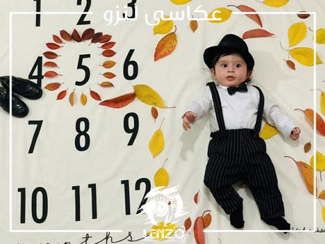 عکس نوزاد پسر باکلاه قدیمی