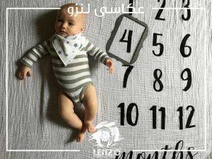 عکاسی نوزاد در منزل، ایده عکس ماهگرد نوزاد در منزل