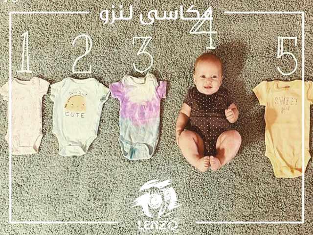 عکاسی از نوزاد دختر در منزل