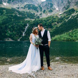 ایده عکاسی عروس و داماد در مناطق کوهستانی