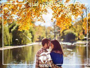 ژست عکس عاشقانه در طبیعت