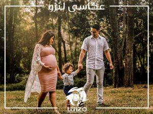 ژست عکس بارداری دونفره