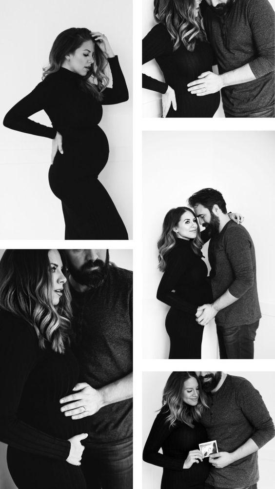 استایل ایستادن در حین ثبت عکس در دوران بارداری